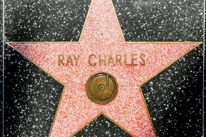 HOLLYWOOD - JUNE 26: Ray Charles star on Hollywood Walk of Fame on June 26, 2012 in Hollywood, California. This star is located on Hollywood Blvd. and is one of 2400 celebrity stars.